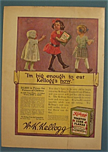1913 Kellogg Toasted Corn Flakes With 3 Children