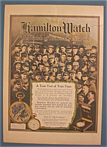 Vintage Ad: 1913 Hamilton Watch