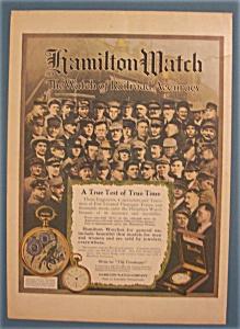 Vintage Ad: 1913  Hamilton Watch (Image1)