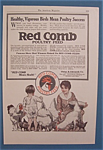 Vintage Ad: 1916 Red Comb Poultry Feed
