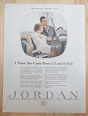 1924 Jordan Automobile With Man & Woman In Car