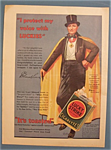 1932 Lucky Strike Cigarettes With Edmund Lowe