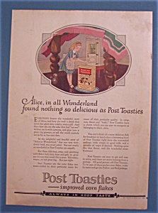 Vintage Ad: 1922 Post Toasties with Alice In Wonderland (Image1)