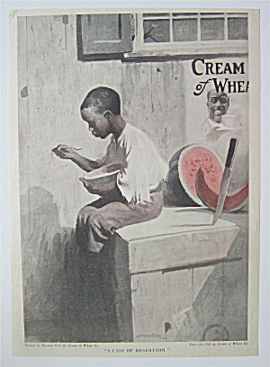 1918 Cream Of Wheat Cereal With Boy Eating Cereal