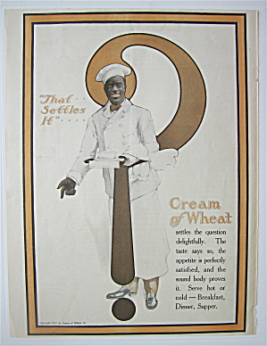1912 Cream Of Wheat Cereal With Cream Of Wheat Man