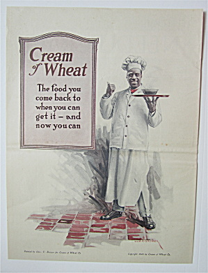 1918 Cream Of Wheat Cereal With The Cream Of Wheat Man