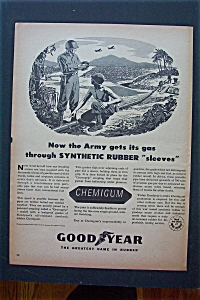 1943 Goodyear Chemigum with 2 Soldiers Talking  (Image1)