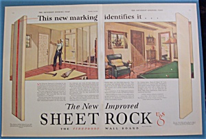 1929  New Improved Sheet Rock with Man Putting Up Wall (Image1)