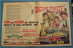 1962 Ford And Aurora Model Cars with People Racing Cars (Image1)