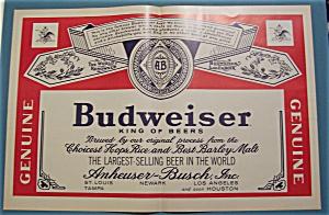Vintage Ad: 1965  Budweiser  Beer (Image1)
