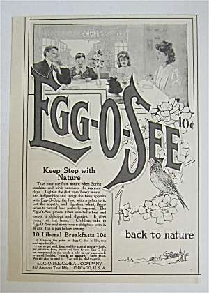 1907 Egg-o-see With A Family Eating Dinner Together