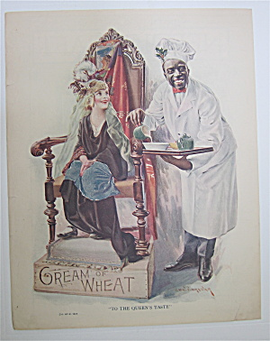 1923 Cream Of Wheat Cereal W/cream Of Wheat Man & Girl