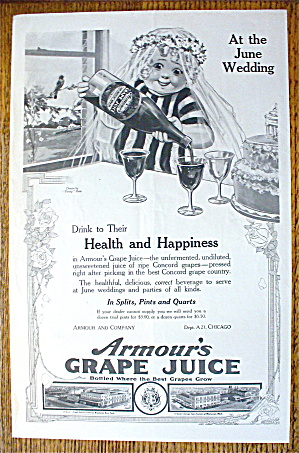 1914 Armour Grape Juice By Penny Ross With Little Girl