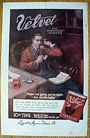 1913 Velvet Tobacco with Man On A Telephone (Image1)