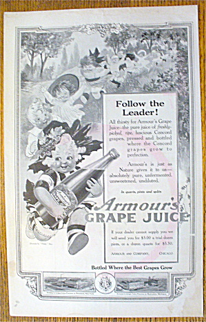 1914 Armour's Grape Juice By Penny Ross w/Girl Running (Image1)