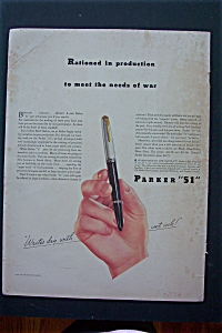 1943 Parker Pen 51 with a Hand Holding the Pen (Image1)