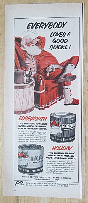 1955 Edgeworth Pipe Tobacco with Santa Claus  (Image1)