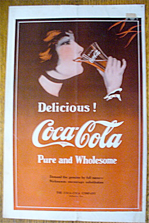 1914 Coca-cola (Coke) With Woman's Face Drinking Soda