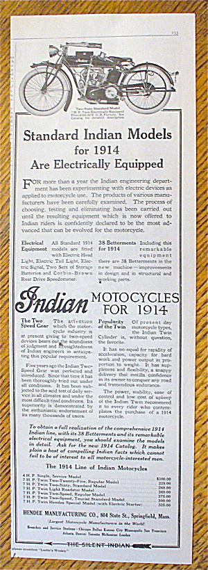 1914 Indian Motorcycle with Two Sixty Standard Model (Image1)
