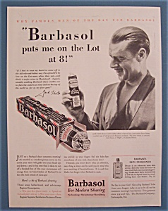 Vintage Ad: 1929 Barbasol With Jack Holt