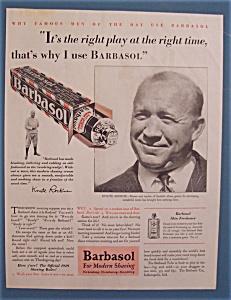 Vintage Ad: 1929 Barbasol with Knute Rockne (Image1)