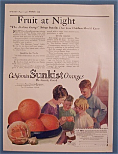 1924 Sunkist California Oranges