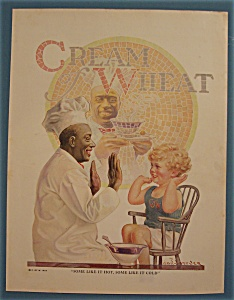 1924 Cream Of Wheat Cereal with Boy Playing Patty Cake (Image1)