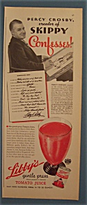 Vintage Ad: 1938 Libby's Tomato Juice w/Percy Crosby (Image1)