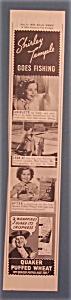 1937 Quaker Puffed Wheat w/Shirley Temple Going Fishing (Image1)