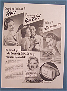 Vintage Ad: 1937 Lux Toilet Soap With Ginger Rogers