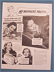 Vintage Ad: 1938 Lux Toilet Soap With Jean Arthur