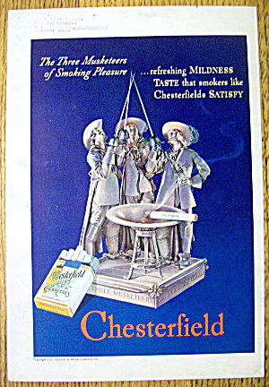 1937 Chesterfield Cigarettes with the 3 Musketeers (Image1)