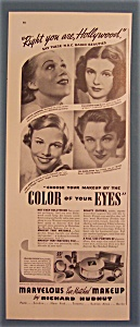 Vintage Ad: 1937 Richard Hudnut Make Up/manners,wragge