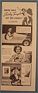 1937 Quaker Puffed Wheat w/Shirley Temple Gets Energy (Image1)
