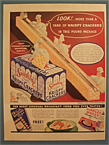 1937 Sunshine Krispy Crackers