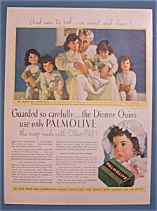 1937 Palmolive Soap With The Dionne Quints