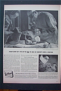 1943 Scot Tissue with Doctor Changing Baby's Diaper  (Image1)