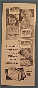 Vintage Ad: 1937 Lux Soap W/young, Rogers & Blondell