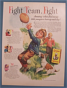 1937 Cream Of Wheat Cereal With Boy Catching Football