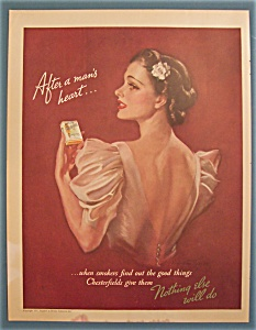 1937 Chesterfield Cigarettes with Lovely Woman (Image1)