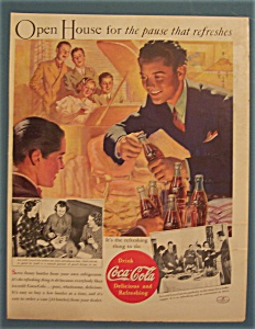 1937 Coca-cola (Coke) With Boy Opening A Bottle