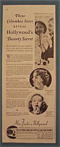 Vintage Ad: 1936 Max Factor With Marsh, Rice & Birell