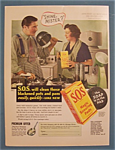 1936 S.O.S. Magic Scouring Pads w/Boles & Judge (Image1)