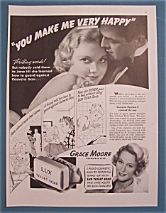 Vintage Ad: 1936 Lux Toilet Soap With Grace Moore