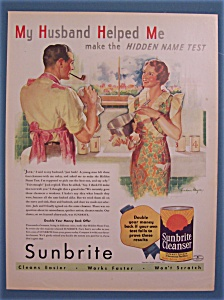 1935 Sunbrite Cleanser With Man & Woman Talking