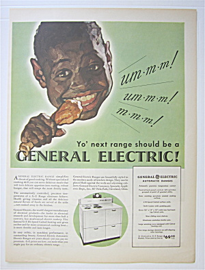 1935 General Electric Automatic Range W/boy & Chicken