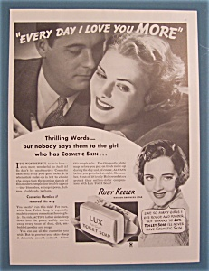 Vintage Ad: 1935 Lux Toilet Soap With Ruby Keeler