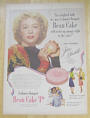 1947 Cashmere Bouquet Beau Cake with Joan Blondell  (Image1)