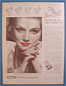 1935 Cutex Nail Polish & Lipstick w/Mrs Francis Robbins (Image1)
