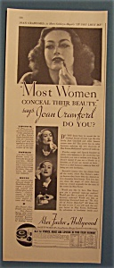 Vintage Ad: 1935 Max Factor With Joan Crawford